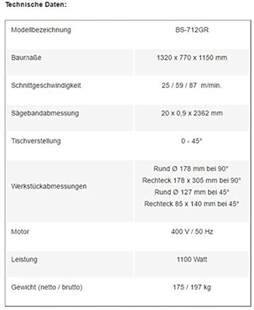 PAULIMOT BS-712GR Metallbandsäge